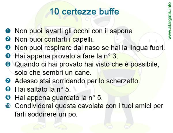 10 certezze buffe